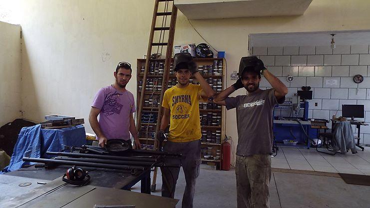 boys welding